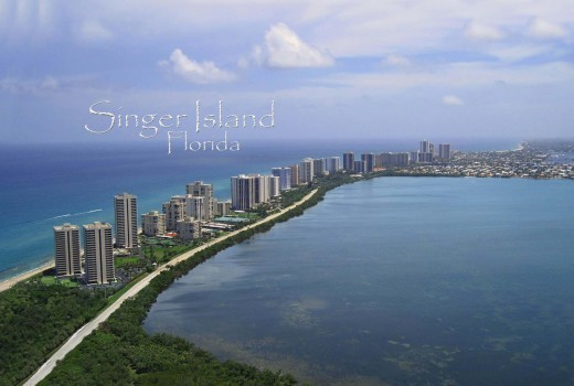 bird's eye view of singer island florida