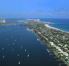 bird's eye view of singer island
