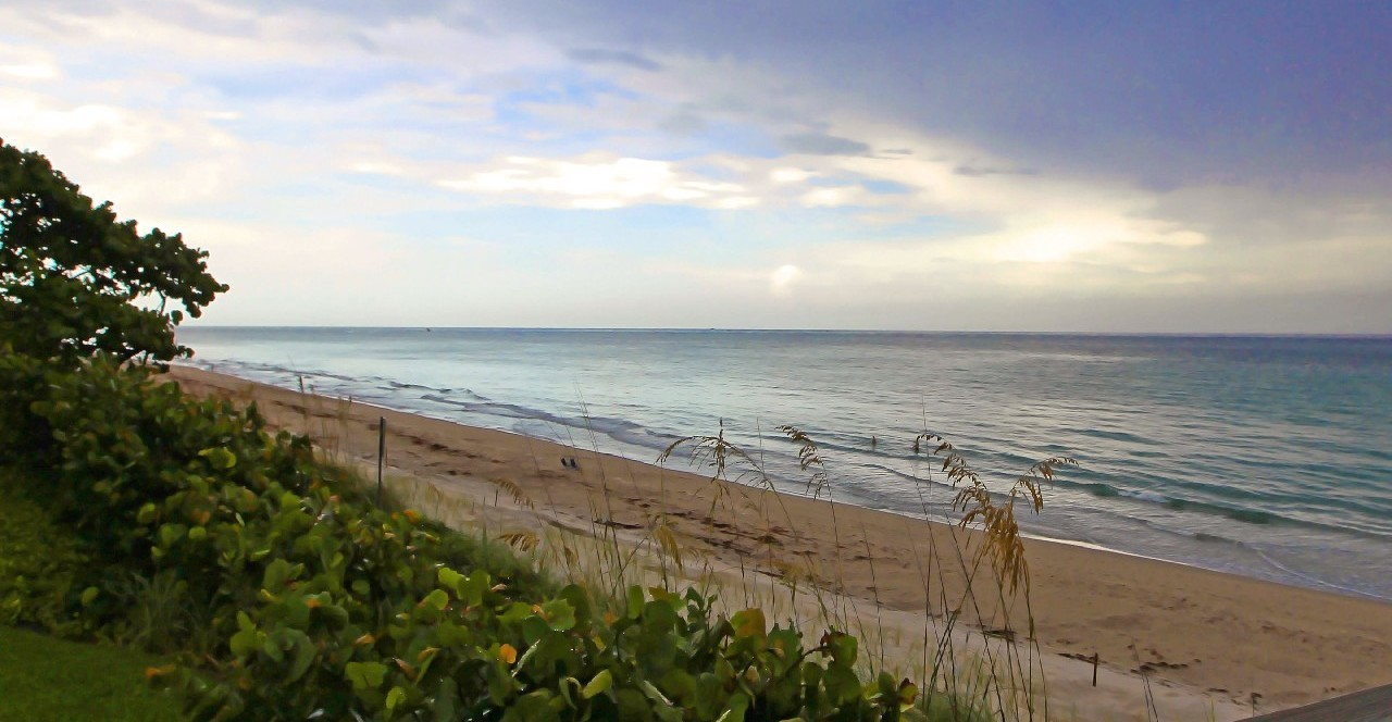 view of singer island beach from porch