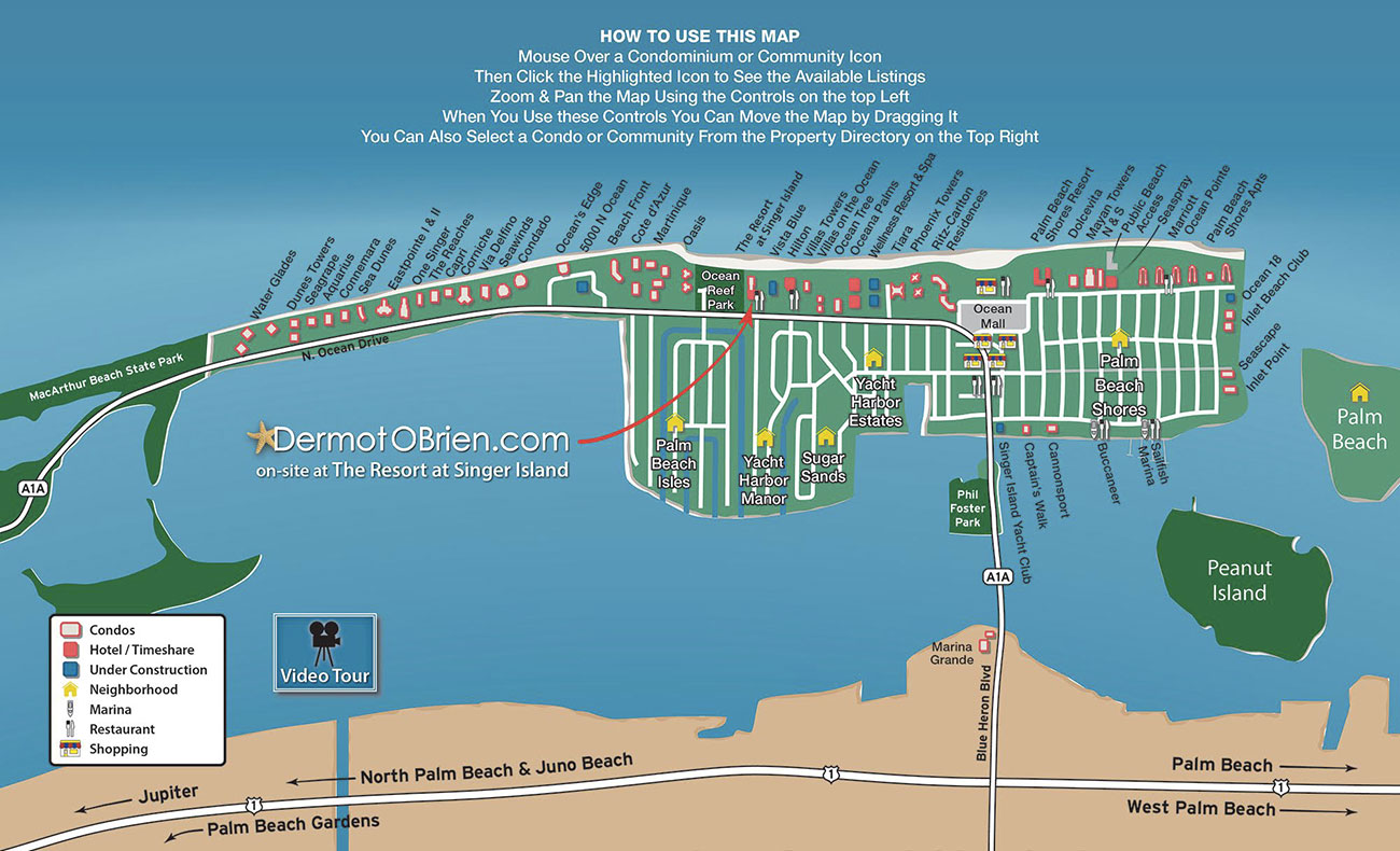 florida map singer island